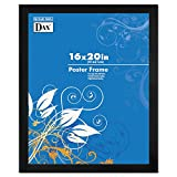 DAX 2863V2X Black Wood Poster Frame with Plastic Window, Wide Profile, 16 x 20 Inches