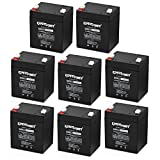 (8 Pack) ExpertPower EXP1245 12V 4.5 Amp Rechargeable Battery for Security Systems