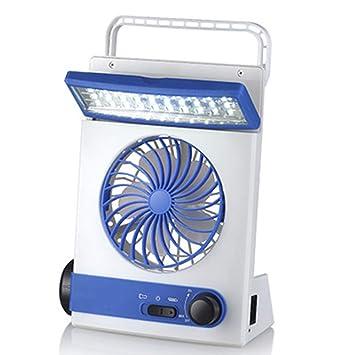 KKDWJ Ventilador de Escritorio Solar Luz led 45 ° Arriba y Abajo Ventilador de enfriamiento portátil