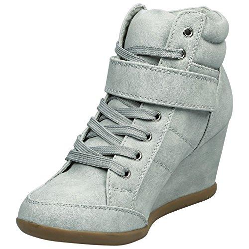 Faux Strap Scarpe Grey Piedi Nabuk Up Mid Leather Lace Heels Fashion Ginnastica Wedge Patti Womens Da First Ladies New wwP4Bxzqa