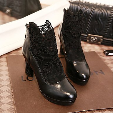 de las mujeres sandalias Primavera Verano Otoño los zapatos del club del brillo personalizada Materiales oficina y carrera boda de tacón de aguja casual Plata Oro Red
