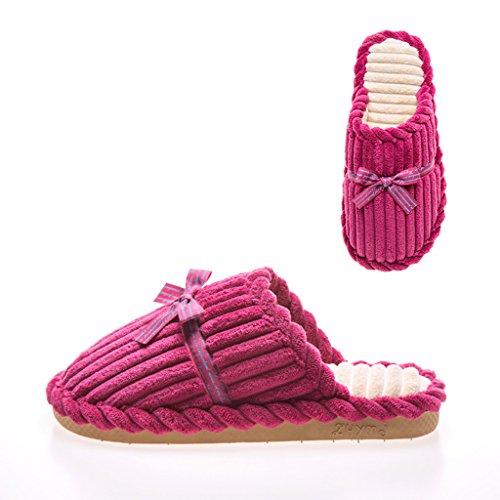 Pantoufles Hiver En B Maison Chaudes Épaisses Dww Coton Chaussures Intérieur Femme Chaussons XqAfw5xwE