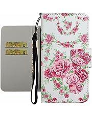 TYWZ Leuke Case voor Samsung Galaxy S20 Plus, PU Lederen Cover voor Meisjes Vrouwen Kleurrijke Ontwerp Portemonnee Stand Kaartsleuf Magnetische Sluiting Flip Bumper-Roze Bloem