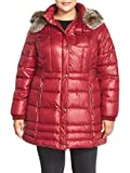 Laundry By Design Coat Laundry By Design Faux Fur Trim Hooded Quilted Coat (Plus Size) (2X, Autumn Red)