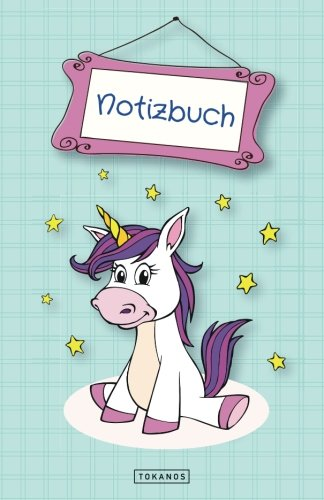 Notizbuch Einhorn: Punktraster / Dotted - ca. A5 - 122 Seiten - Einhorn Notizbuch A5 (ca.) als Geschenk oder fr eigene Notizen (German Edition)