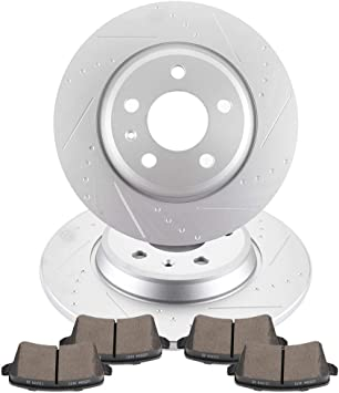 Rotors w//Ceramic Pads OE Brakes |Front 2012-2016 Audi A4 A5 2012 Q5