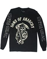 Authentic SONS OF ANARCHY Reaper Logo Long sleeve shirt S M L XL XXL 3XL NEW