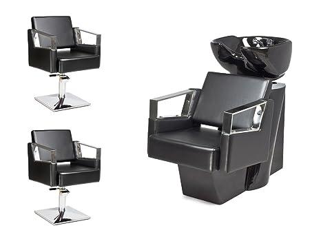Kit mobili per parrucchieri verde 2x poltrona parrucchiere 1x