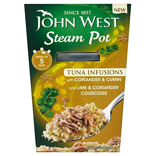 John West Steam Pot Tuna with Coriander & Cumin & Couscous (150g) - Pack of 6 by John West