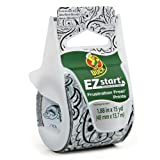 Duck Brand EZ Start Decorative Printed Packaging Tape with Dispenser, 1.88-Inch x 15-Yard Roll, Midnight Paisley (280436)