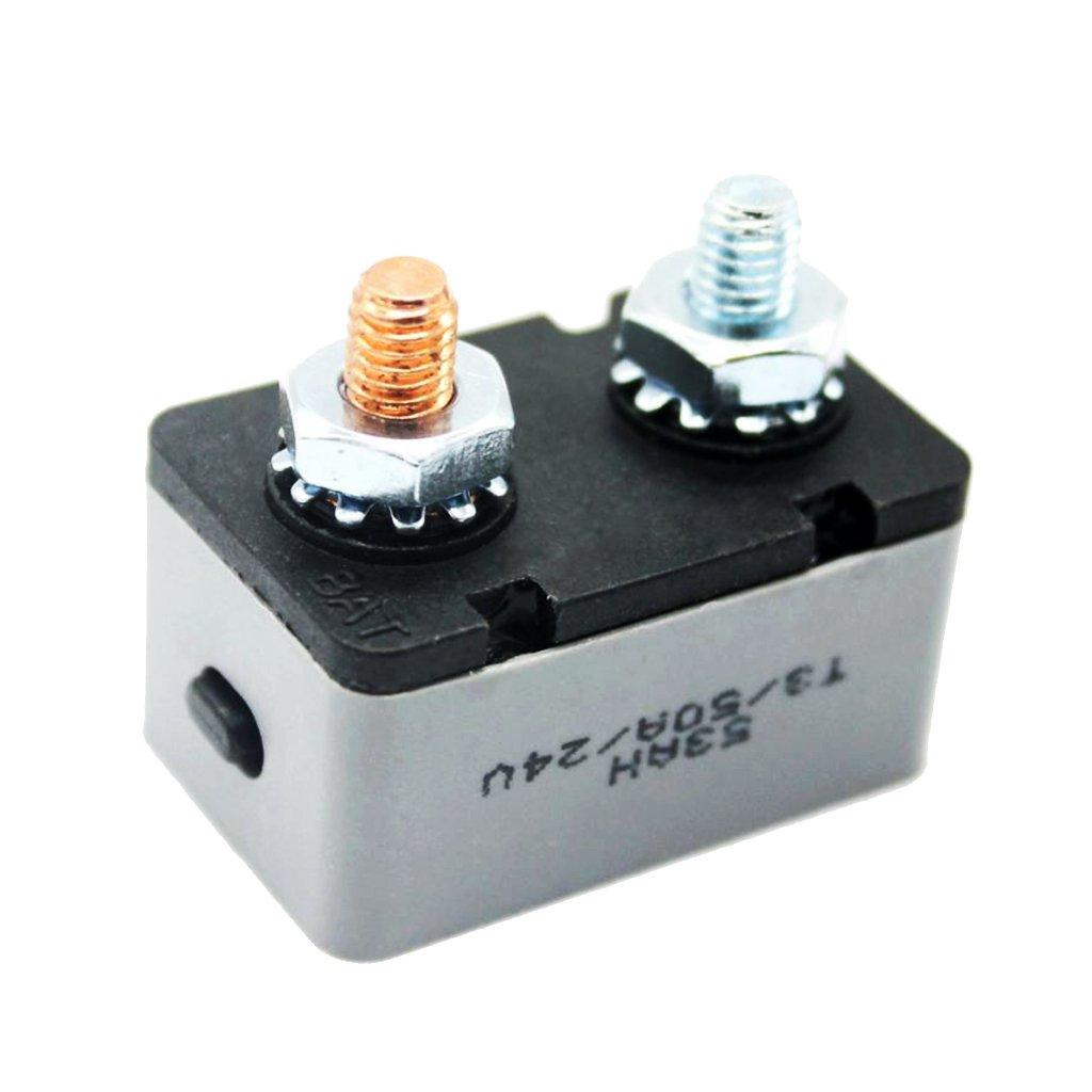 Automotive RV Boat 50 AMP Metal Auto-Reset Circuit Breaker 50AMP 12V