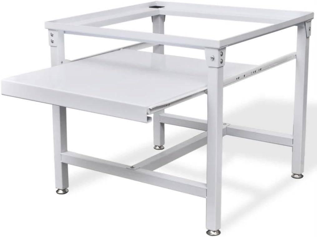 vidaXL Pedestal para Lavadora con Estante Blanco Acero 100 kg ...