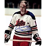 Bobby Hull Autographed 8x10 Photograph (Bloody) - Winnipeg Jets