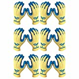 Atlas KV300 Natural Rubber Palm Work Glove, Large, 6-Pair