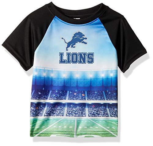 NFL Detroit Lions Unisex-Baby Short-Sleeve Tee, Black, 18 Months