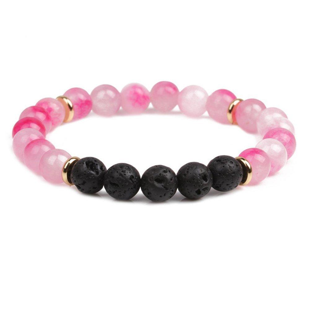 SIVITE Lava Rock Amethyst Agate Beads Bracelet Essential Oil Diffuser Yoga Healing Energy Reiki Bracelet YML BBEAD-141