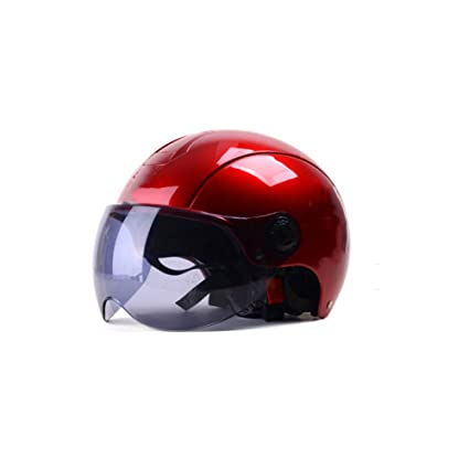 Red Four Seasons Casco De Moto Universal Casco Medio De Hombre Casco Verano Casco De Coche