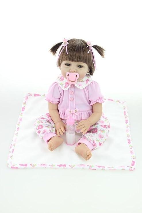 42b7d88054ca6 NPKDOLL Reborn Baby Bambino Reborn Bambola Morbido Silicone 22 Pollici 55  Centimetri Magnetica Bocca Bella Realistica