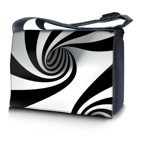 Luxburg® Design bolso bandolera de mensajero, de escuela bolso para portátil ordenadores Laptop Notebook 15,6 pulgadas, motivo: Hombres multicolores Espiral