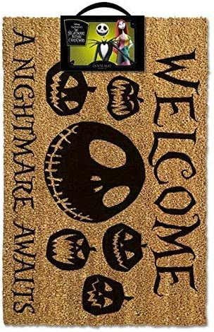 Nightmare Before Christmas Doormat A Nightmare Awaits 40 x 60 cm Pyramid Tappeti