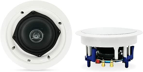 "Herdio 5.25"" Round Bluetooth Ceiling Speakers 2 Way Flush Mount Full Range Stereo Sound (A Pair)"