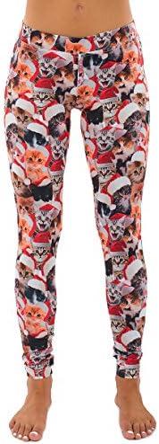 Womens Cat Christmas Leggings Sweater product image