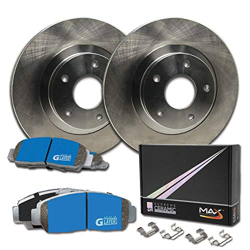 Max Brakes Rear Supreme Brake Kit [ OE Series Rotors + Ceramic Pads ] KM018042 | Fits: 2000 00 Chrysler Sebring Lxi Coupe - Coupe Sebring 2000 Lxi Chrysler
