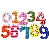 tinxs AKORD Magneti in legno a forma di numeri divertenti e colorati, legno, multicolore, 6x 4x 0,5cm