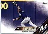 2016 Topps Update #US263 Kirk Nieuwenhuis Milwaukee Brewers Baseball Card in Protective Screwdown Display Case