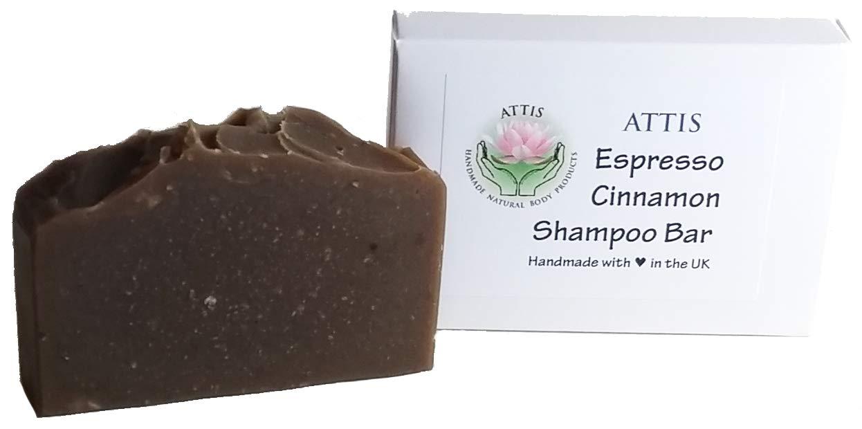 ATTIS Handmade Espresso | Cinnamon Shampoo Bar | with Coffee powder and Clove Essential Oil ATTIS Handmade Natural Body Products