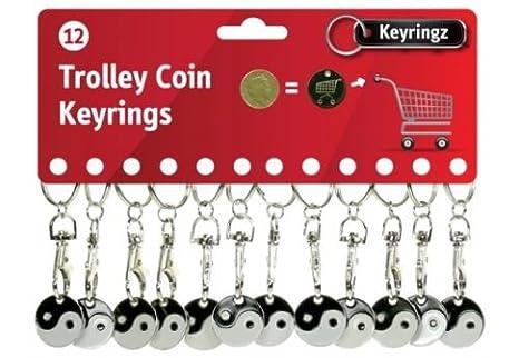 12 monedas para carritos de supermercado con llavero y ...