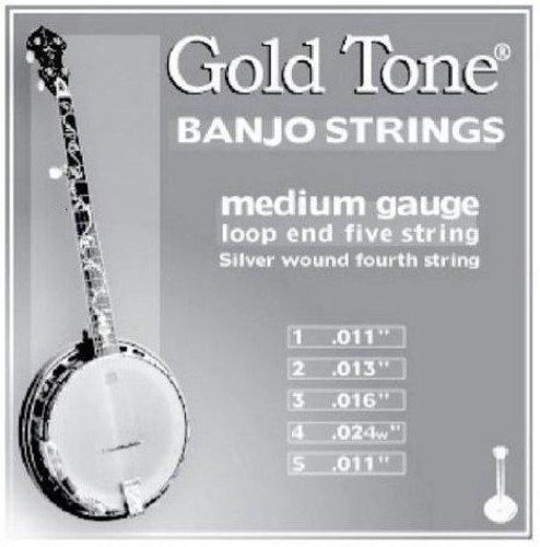 Gold Tone Banjo Strings, Medium Gauge Gold Tone Musical Instruments BSM
