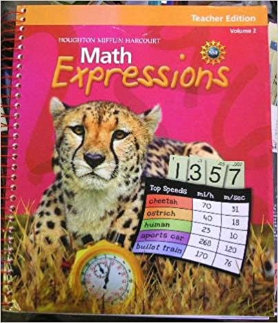 Math Worksheets houghton mifflin math worksheets grade 5 : Amazon.com: Math Expressions: Teacher Edition, Grade 5, Vol. 2 ...