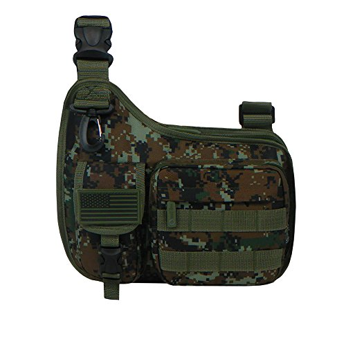 East West U.S.A RTC518 Tactical Shoulder Sling Gun Range Holsters Cases Utility Bag, Green/Camo
