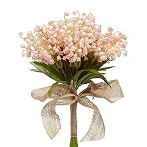 Factory Direct Craft Soft Pink Artificial Lily of The Valley Bouquet 35