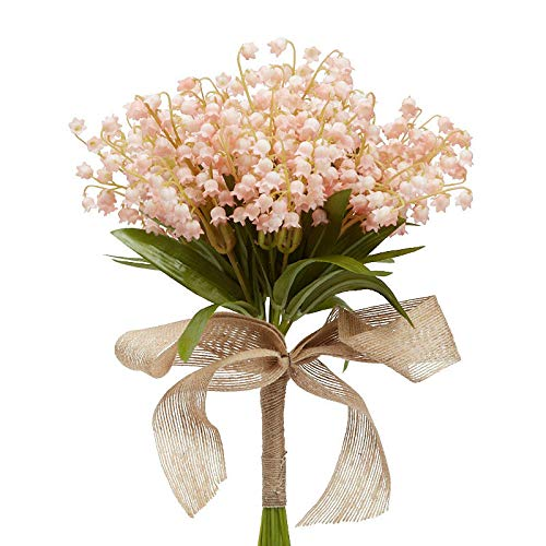 Lily The Valley Of Bouquet (Factory Direct Craft Soft Pink Artificial Lily of The Valley Bouquet)
