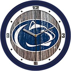 SunTime Penn State Nittany Lions - Weathered Wood Wall Clock