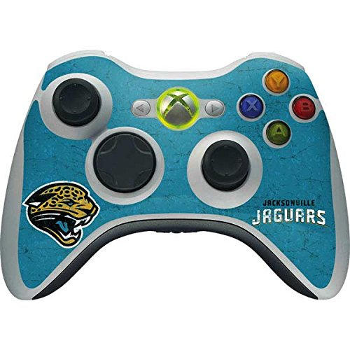 Skinit NFL Jacksonville Jaguars Xbox 360 Wireless Controller Skin - Jacksonville Jaguars Distressed Design - Ultra Thin, Lightweight Vinyl Decal Protection