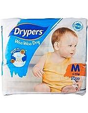 Drypers Wee Wee Dry Diapers, L, Case, 3 packs x 62 Count