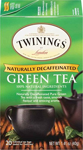 Twinings of London Decaffeinated Green Tea, 20 Count (Pack of (Decaffeinated Green Tea Tea)
