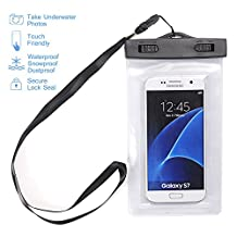 Waterproof Case,Asstar Universal Waterproof Case for Apple iPhone 6S, 6, 6S Plus, 5S, Galaxy S7, S6 Note 5, HTC, LG, Motorola up to 5.5 inch and Card, Passport, Wallet (White )