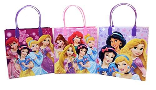 Disney Princess Party Favor Goody Gift Bag Pack - 6.5