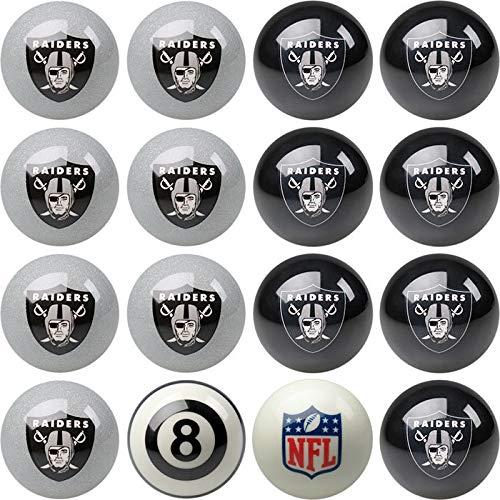 Oakland Raiders Nfl Billiard Ball - Oakland Raiders NFL Home vs. Away Billiard Balls Full Set (16 Ball Set) by Imperial International