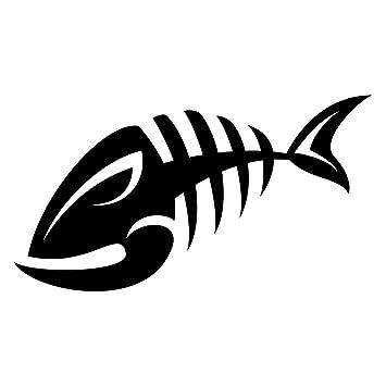 amazon com skeleton fish bone fish tribal fish fishing boating rh amazon com  skeleton fish logo restaurant