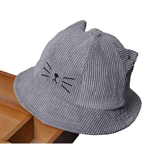 476f15ac3 Roffatide Bebé Bordado Sombreros de Pescador Niño Niña Verano Outdoor  Protección ...