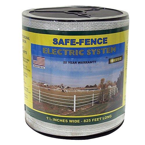 Safe Fence 1 1/2in Wide Poly Tape 825 Ft Black