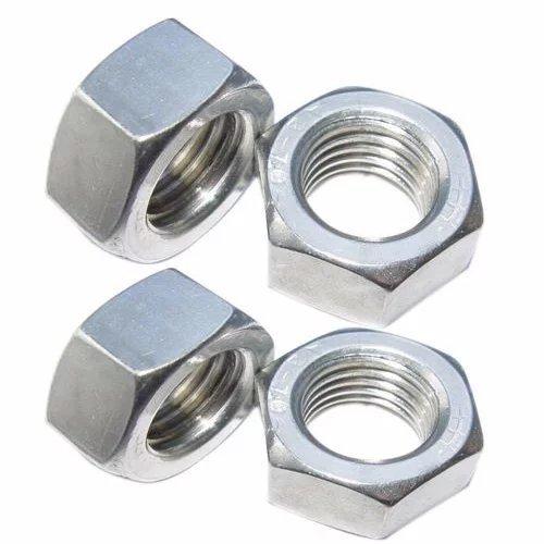 4pcs M10 x 1.25mm Pitch Stainless Steel Left Hand Fine Thread Hex Nut Metric ABBOTT