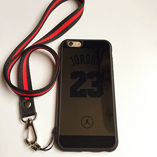 cheap for discount f602e 509bf iPhone 6 and 6S Case,Reflective Mirror Case Jordan 23 Jumpman Cover with  Soft Neck Lanyard.Shockproof Resistant Case for iPhone 6 and 6S Case 4.7 ...