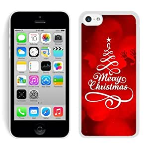Iphone 5C Case,5C cases,Merry Christmas Iphone 5C Case White Cover