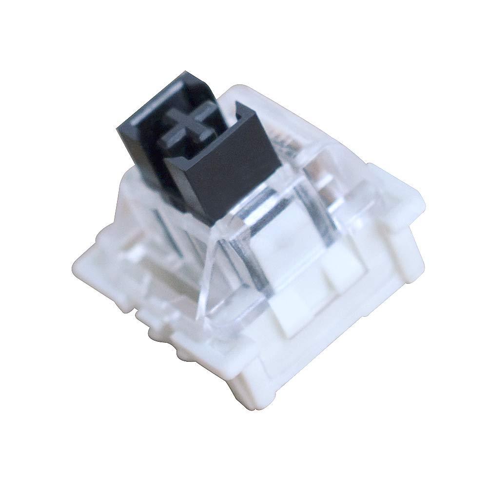 OUTEMU Keyboard Switches 3-Pin Keyswitch for RGB Mechanical Gaming Keyboard (20 PCS)-Black